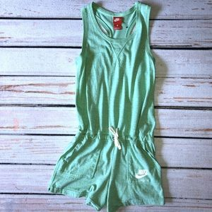 NWOT Nike girls green romper 16 xl